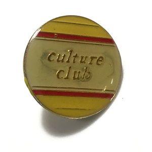 Vintage 80s Culture Club Pin